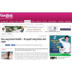 Báo Gia Đình: Keo ong David Health – Bí quyết sống khỏe mỗi ngày
